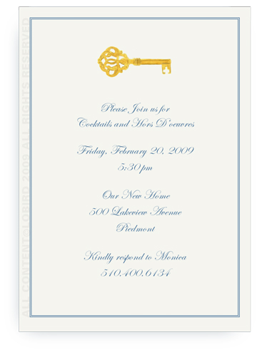 Gold Key - Invitations