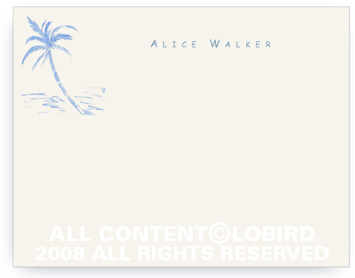 Blue Palm - Note cards