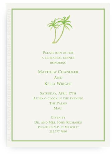 Twin Green Palms - Invitations