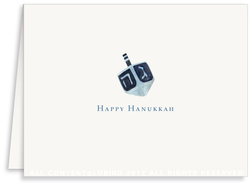Dreidel - Greeting Card