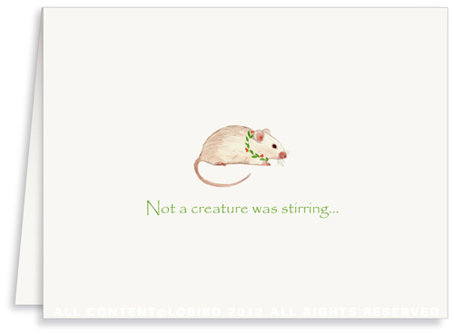 Holiday Mouse -  Greeting Card