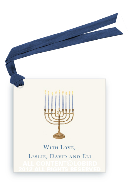 Menorah  Gift tag