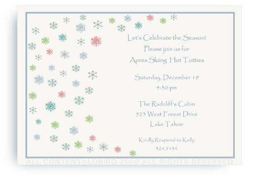 Snowflakes - Invitations