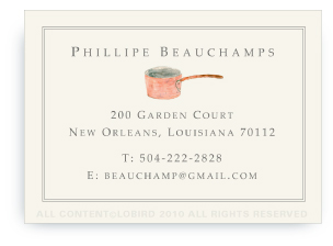 Chef's Copper Pot - Calling Cards
