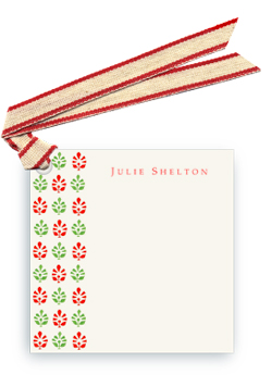 Block Print Tapestry - Green/Red - Gift Tags