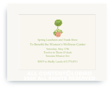 Topiary in Terra Cotta Pot  - Invitations