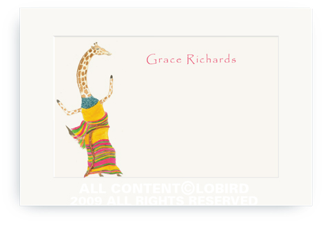 Dancing Giraffe - Enclosure Cards