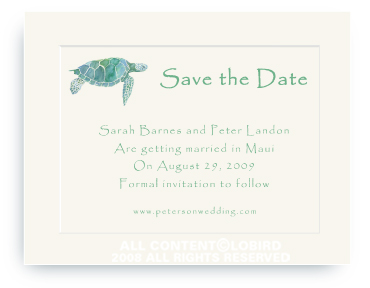 Sea Turtle - Save the Date Cards