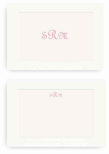 Classic Monogram - Enclosure Cards