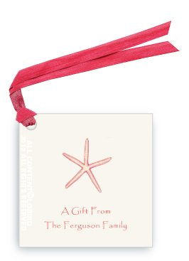 Starfish- Coral-Gift Tags
