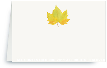 Yellow Autumn Leaf - Place Cards