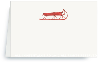 Red Sled - Holiday Place Cards