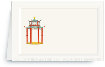 Chinoiserie Pagoda Pavilion - Place cards