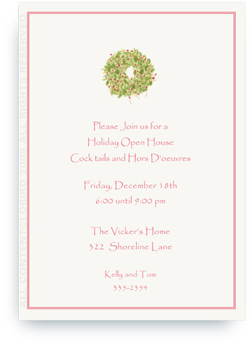 Holiday Wreath - Invitations