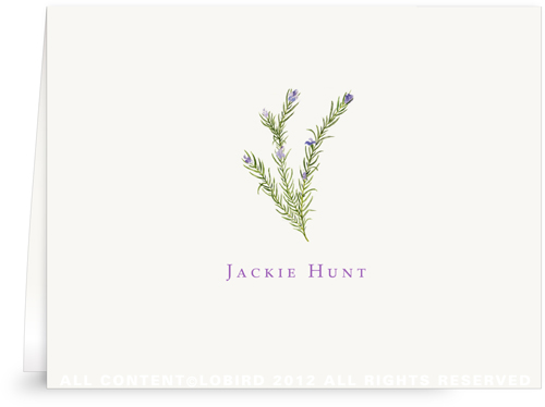 Rosemary - Folded Note Card