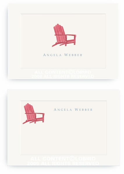 Red Androndack Chair - Enclosure Cards