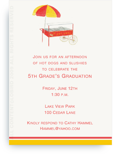 Vintage Hot Dog Cart - Invitations