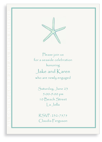 Starfish Aqua - Invitations