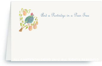 Partridge in a Pear Tree - Holiday Place Cards