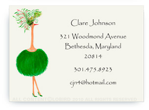 Ostrich - Jacqueline - Calling Cards