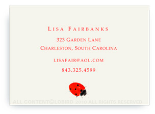 Lady Bug - Calling Cards