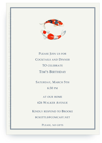 Double Koi - Invitations