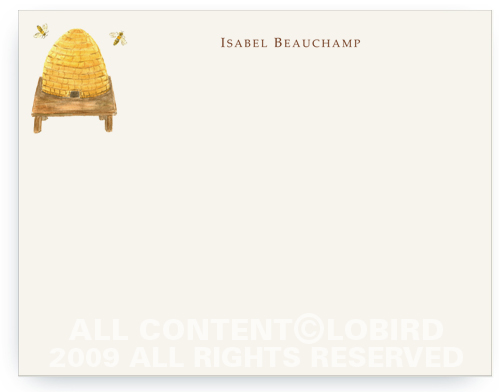 Bee Hive - Flat Note Cards