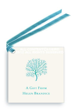 Coral Fan - Turquoise -Gift Tags