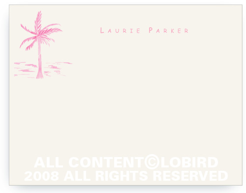Pink Palm - Note cards