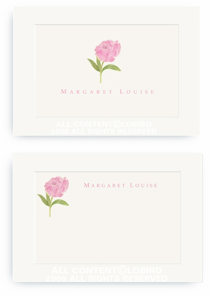 Pink Peony - Enclosure Cards