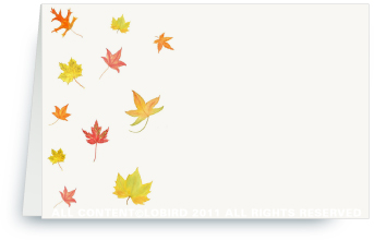 Autumn Leaves - Place Cards