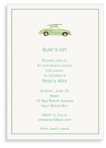 Vintage Surf Car-invitations