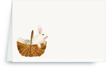 Bunny in Easter Basket - Place Cards