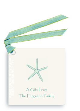Starfish-Aqua -Gift Tags