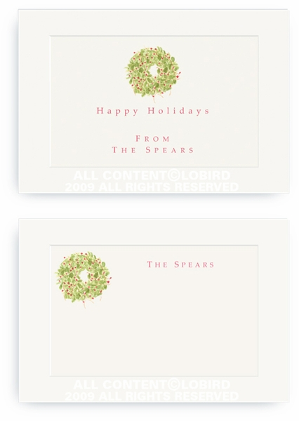 Holiday Wreath - Enclosure Cards