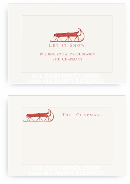 Red Sled - Enclosure Cards