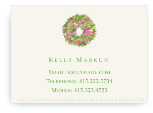 Spring Wreath - Calling Cards