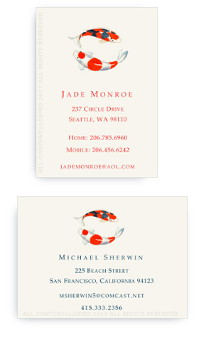 Double Koi - Calling cards