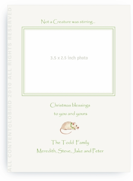 Holiday Mouse - Photo Greeting Cards
