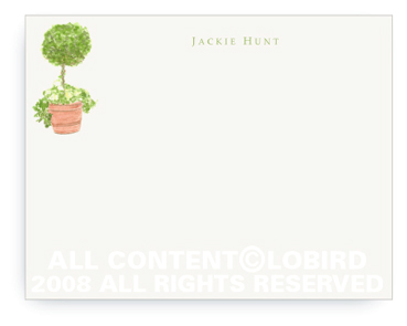 Topiary in Terra Cotta Pot - Flat Note cards