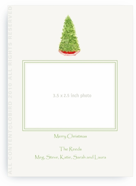 Christmas Tree - Photo Greeting Cards