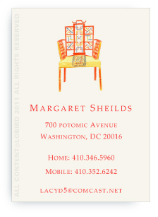 Chinese Chippendale Chair - Calling cards
