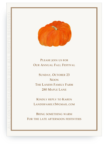 Heirloom Pumpkin - Invitations