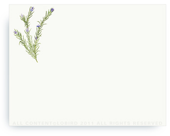 "Rosemary - Non-Personalized Note Cards (4.25"" X 5.5"")"