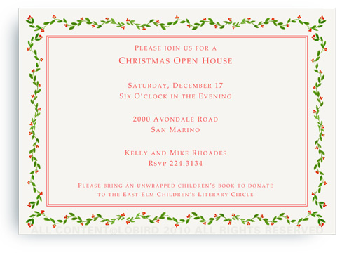 Holiday Vine - Invitations