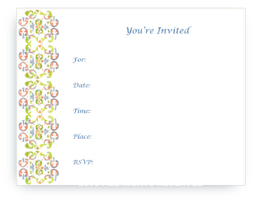 Tapestry - Paloma - Fill-in Invitations