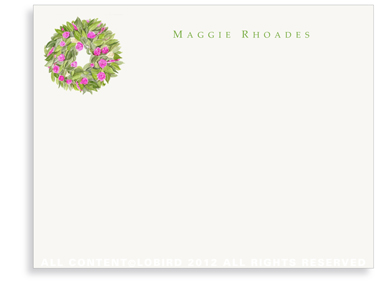 Spring Wreath - Flat Note Cards