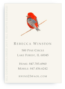Scarlet Tanager - Calling Cards