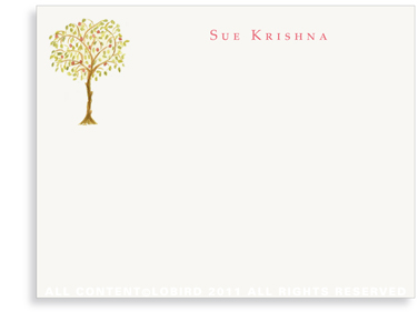 Pomegranate Tree - Flat Note cards