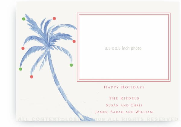 Holiday Palm - Photo Greeting Cards